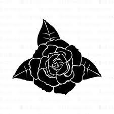 黒いバラの無料イラスト素材イラストイメージ
