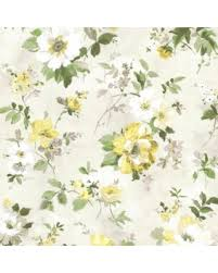 brewster flower garden. Brewster 2605-21637 Yellow Floral Amalia Garden Wallpaper Flower I