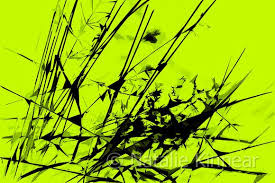 lime green and black abstract