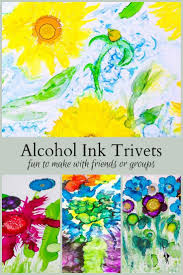 these alcohol ink trivets are very easy to create and make the perfect get toge