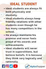 10 lines on ideal student for students