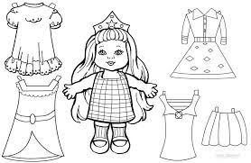 Here's a video showing her creating her paper dolls you can download the free printable paper dolls with the link below—it's a set of one boy and one girl. Paper Doll Clothes Coloring Pages Coloring Home