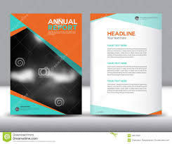 Free Annual Report Templates Orange Annual Report Template Vector Illustration Stock Vector 1