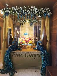 peacock theme ganpati decoration contact 919967144050 decorideas