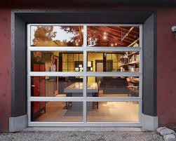 home office in garage. contemporary home office idea in san francisco with red walls garage