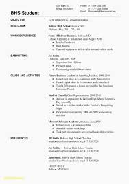 Resume For High School Students With No Experience Luxury Resume