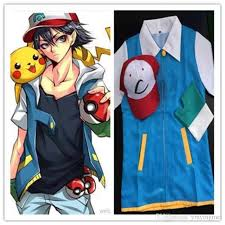 hot go ash ketchum trainer costume cosplay jacket gloves hat ash ketchum costume for costume cosplay with 38 96 piece on zzbaili s