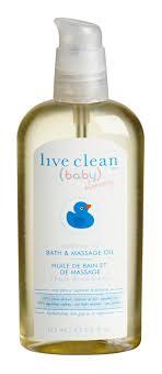 live clean baby massage oil bath archives babylish advice