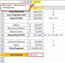 Gross Profit Formula Excel Net Income Formula Examples Equation Guide To Calculate