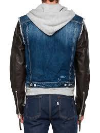 leather jean jacket