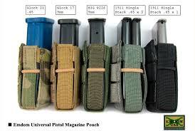 Pistol Magazine Holders Classy EMDOM USA's Universal Pistol Mag Pouch RECOIL