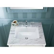 How To Clean Bathroom Sink Drain Impressive K484848NY Kohler Archer Ceramic Rectangular Undermount Bathroom