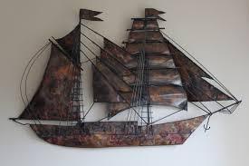 metal wall art tall ship saveenlarge