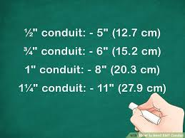 How To Bend Emt Conduit Chart 4 Ways To Bend Emt Conduit Wikihow
