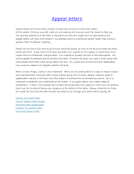 Unemployment Appeal Letter Appeal Letter 7 Free Samples Examples