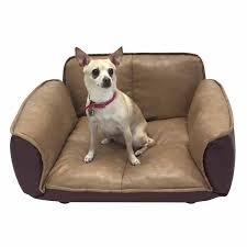 amazoncom  dog couch  leather dog bed  reclining pet sofa with