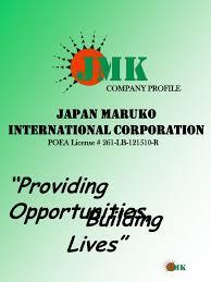 Jmk Food Service Consulting Design Jmk Company Profile
