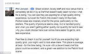 restaurant replies to customer s review hilariously  restaurant replies to customer s review hilariously unprofessional post photo