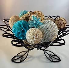 Decorative Vase Filler Balls Decorative Spheres Aqua Rattan Vase Filler Blue Bowl Filler Rope 1