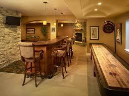 image of modern small basement bar ideas