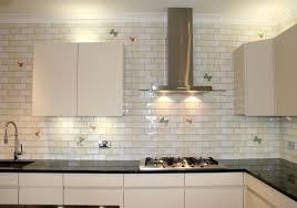 glass kitchen tiles. Decorative White Glass Tile Backsplash Kitchen Tiles