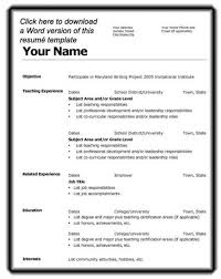College Resume Format Sample For Students Cv Template Student Grad