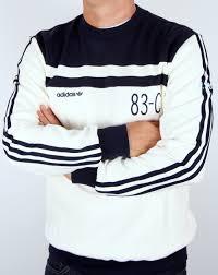 adidas 83 c. adidas originals 83-c sweatshirt off white/navy 83 c