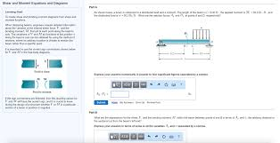 By Shear Design Solved To Create Shear And Bending Moment Diagrams From S