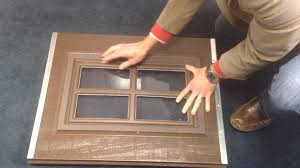 clopay garage door classic collection snap in decorative window insert removal and replacement you