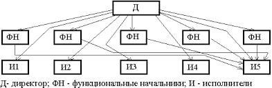 Тема Основные характеристики системы управления организацией на  Рисунок 1 2 Функциональная структура управления