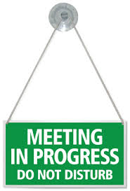 Do Not Disturb Meeting In Progress Sign Meeting In Progress Do Not Disturb Hanging Shop Door Sign Any
