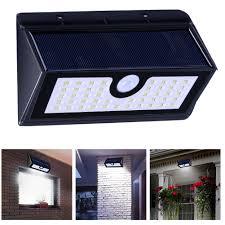 Zonne Energie Led Light 45 Led Waterdichte Pir Motion Sensor Wandlamp Tuin Straat Yard Security Lamp Wit