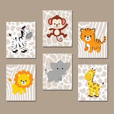 on jungle animal wall art with safari jungle animals wall art jungle animals nursery decor