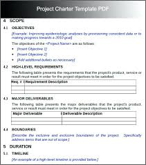 Project Charter Template Pdf Simple Project Charter Template Simple