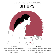 situps exercises to do at your desk