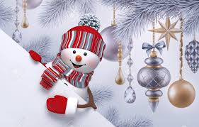 Blank Christmas Background 3d Snowman Christmas Background New Year Greeting Card Fir