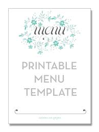 blank menu template free download free printable blank menu templates green thirteen