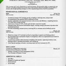 Retail Sales Associate Resume Sample Writing Guide Rg In Resume