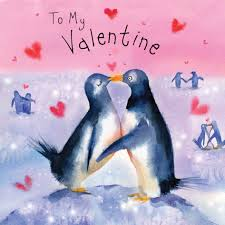Fiz25 Valentine Card Penguins