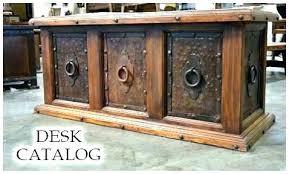rustic office desk wood furniture on wheels w40