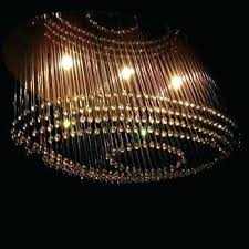 fiber optic chandelier electric optics double spiral is the sister club lighting light