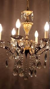 magnifique vintage antique crystal italian chandelier bronze lamp classic er