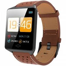 <b>CK19</b> Smart Bracelet <b>1.3 inch</b> Screen Sports Smartwatch - BROWN