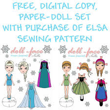 Small Picture Doll Face Elsa Coloring Page Diy Frozen Inspired Paper Doll