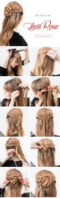Lace Hair Style hairstyles how to diy the half up lace rose tutorials hair 8464 by wearticles.com
