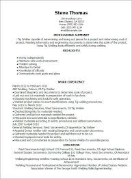 20 Welder Resume Sample Free Resume