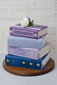 This gorgeous book cake is definitely food for thought