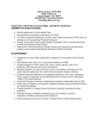 ot resume resume ca ma ct occupational therapy resume objective examples