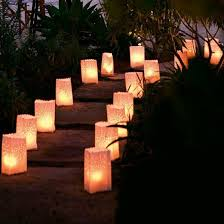 outdoor lighting decorations. Battery-operated Lights In Gift Bags Make A Pretty Cheap \u0026 Easy Decoration Outdoor Lighting Decorations T