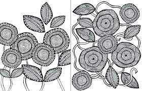 Flowers Coloring Pages Free Printable Free Printable Flower Coloring